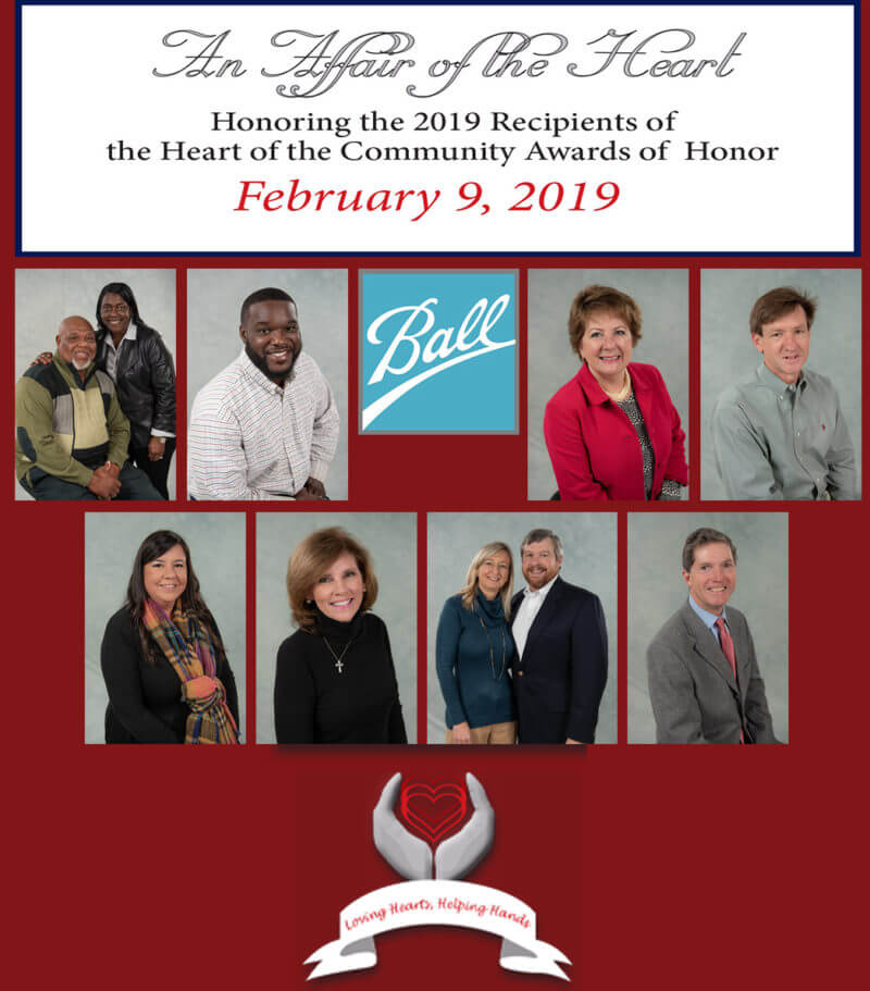 2019 Heart of the Community Awards of Honor Recipients